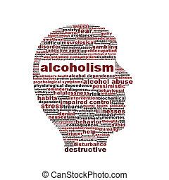 Simbolo médico del alcoholismo aislado en blanco