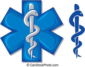 Simbolo médico, serpiente caducida