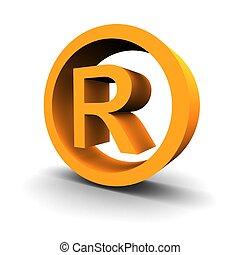 Simbolo marca 3d de imagen