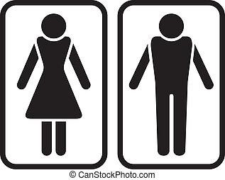 Simbolo masculino y femenino.