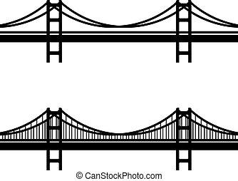 Simbolo negro de cable de metal