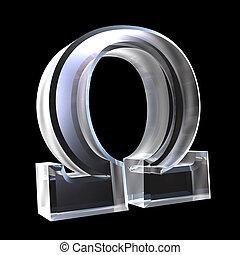 Simbolo Omega en cristal (3)