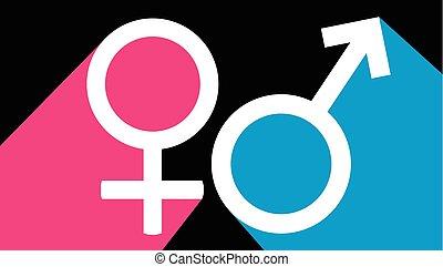 Simbolo sexual masculino y femenino