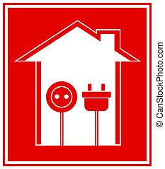 Simbolo técnico de la electricidad