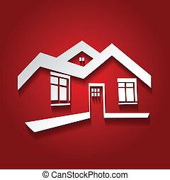 Simbolo Vector de casa, icono de casa, silueta inmobiliaria, logotipo moderno