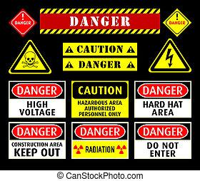 Simbolos de advertencia de peligro