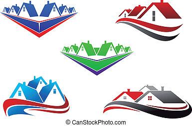 Simbolos de bienes raíces