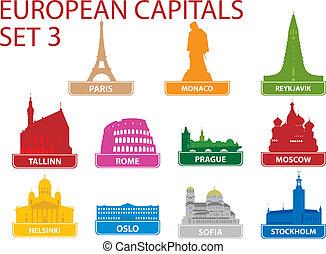 Simbolos de capital europeos