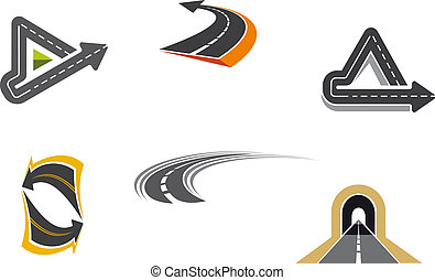 Simbolos de carretera y carretera