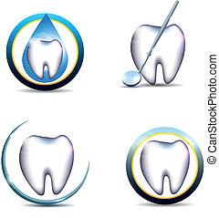 Simbolos de dientes saludables