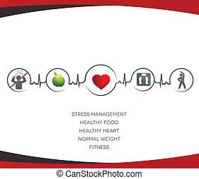 Simbolos de estilo de vida saludables