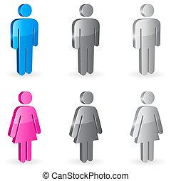Simbolos de género.