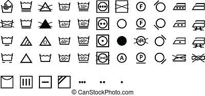 Simbolos de la lavandería internacional