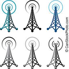 Simbolos de la torre de radio