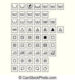 Simbolos de lavandería