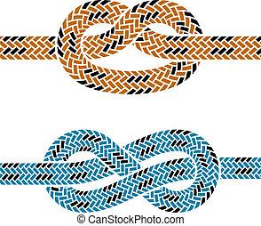 Simbolos de nudos de cuerda de vector trepando