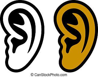 Simbolos de oído humano
