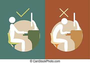 Simbolos de oficina correctos