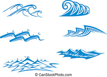 Simbolos de olas