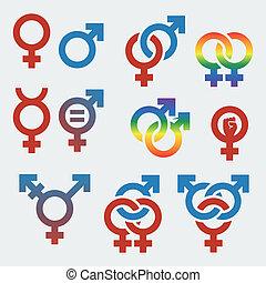 Simbolos de orientación sexual y género