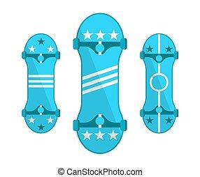 Simbolos de patinetas aislados en vector blanco