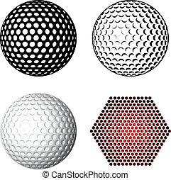 Simbolos de pelota de golf