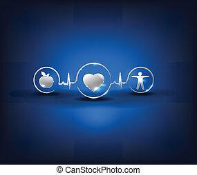 Simbolos de salud, diseño conceptual