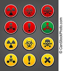 Simbolos de seguridad de peligro