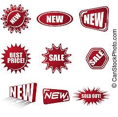 Simbolos de ventas establecidos