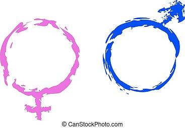 Simbolos de Venus y Marte