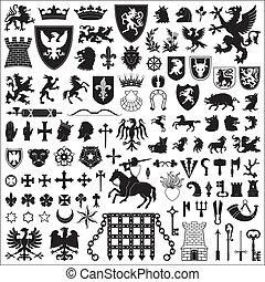 Simbolos herálicos y elementos