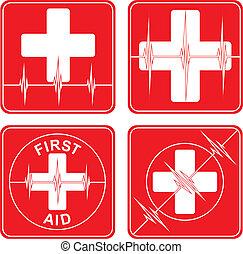 Simbolos médicos de primeros auxilios
