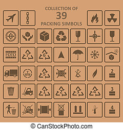 simbols, embalaje, backgrownd, colección