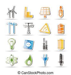 Simple electricidad, energía, energía