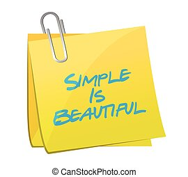Simple es hermosa ilustración de mensajes postales