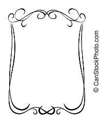 simple, ornamental, decorativo, negro, marco