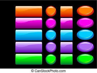 Simples botones brillantes