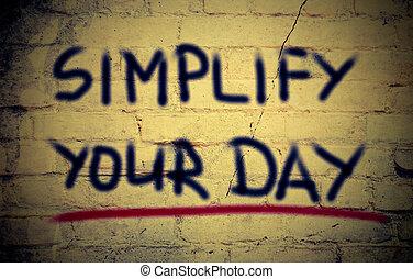 Simplifica tu concepto del día
