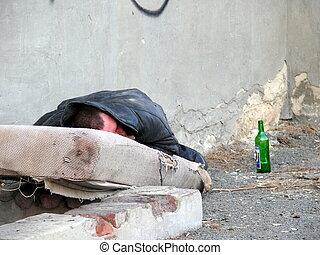 sin hogar, alcohólico