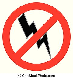 Sin símbolo de electricidad