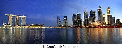 singapur, cityscape, explanada, panorama