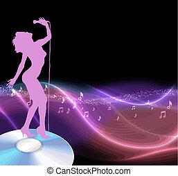 Singer en un vector de CD