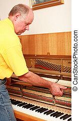 sintonizador, piano