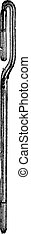 Siphon barómetro grabado vintage