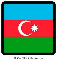 sitio, botón, patriotismo, conmutación, comunicación, azerbaiyán, contorno, medios, forma, cuadrado, bandera, idioma, social, contrastar, señal, icon.