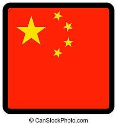 sitio, botón, patriotismo, conmutación, comunicación, contorno, china, forma, cuadrado, medios, bandera, idioma, social, contrastar, señal, icon.