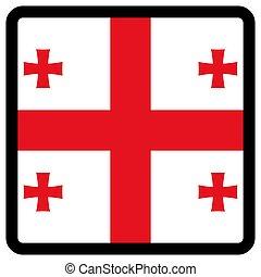 sitio, botón, patriotismo, conmutación, comunicación, contorno, forma, cuadrado, señal, bandera, idioma, social, contrastar, georgia, medios, icon.