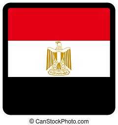 sitio, botón, patriotismo, conmutación, comunicación, contorno, medios, forma, cuadrado, bandera de egypt, idioma, social, contrastar, señal, icon.