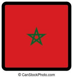sitio, botón, patriotismo, conmutación, comunicación, marruecos, contorno, forma, cuadrado, señal, bandera, idioma, social, contrastar, medios, icon.