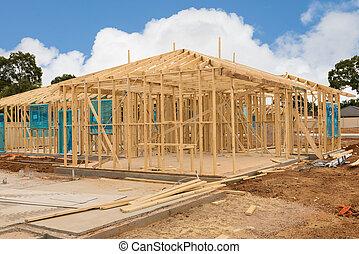 Sitio de construcción de un nuevo hogar